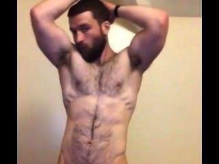 Hairy wank