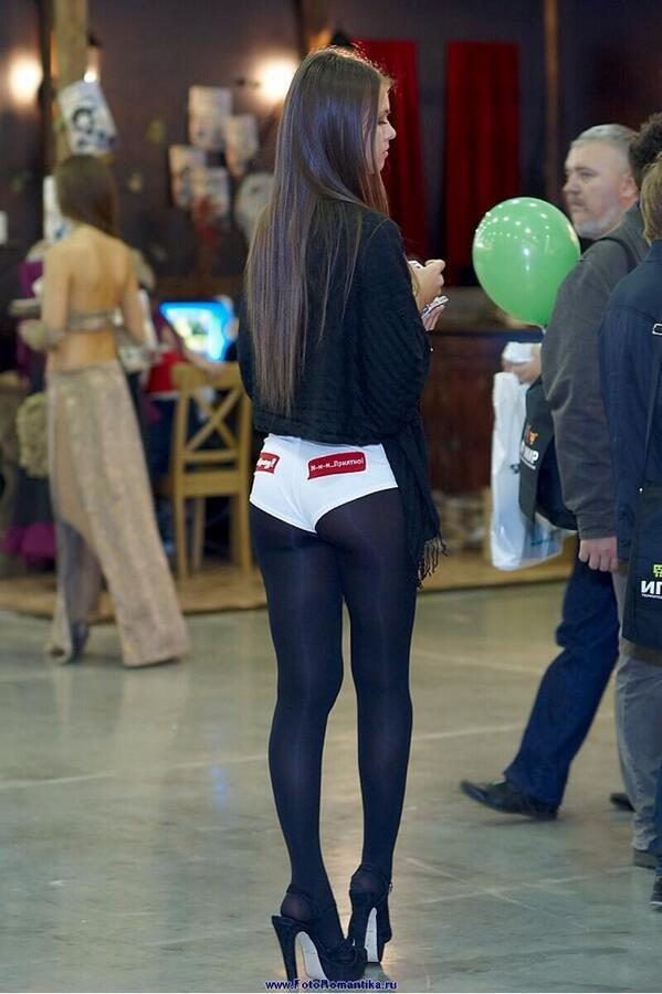 Short shorts pantyhose
