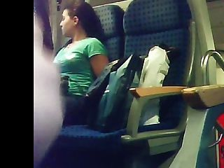 Claws recommendet Lady masturbates on train