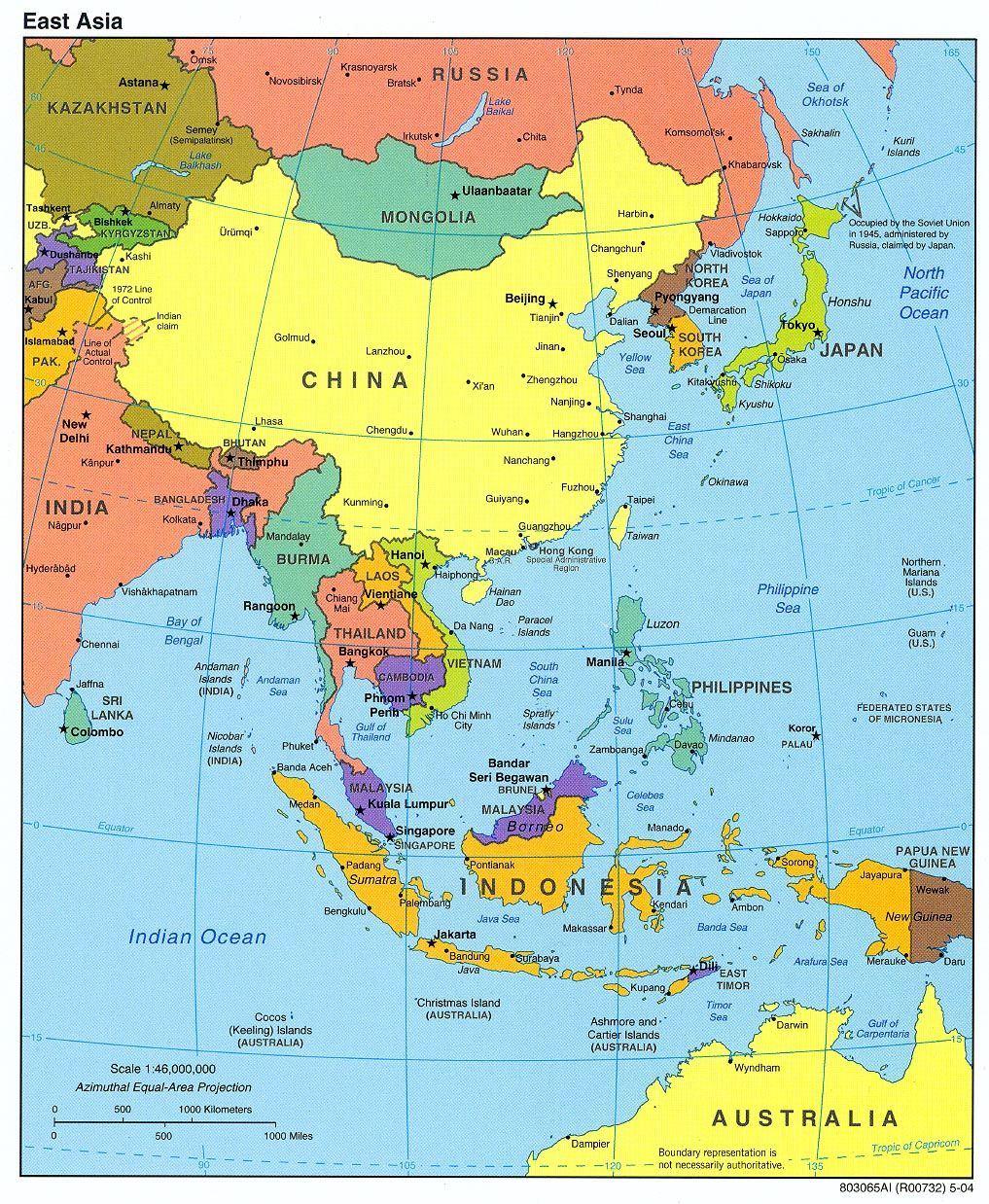 Jessica R. reccomend Asian region map