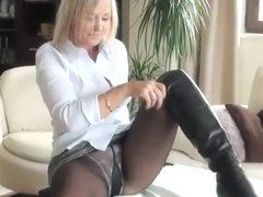 Spice recomended white load on cumm penis masturbate face pantyhose