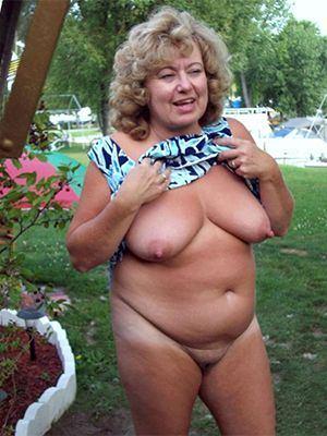 Slightly chubby mature women