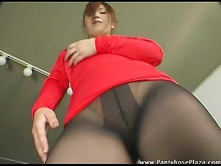 Asian pantyhose dance