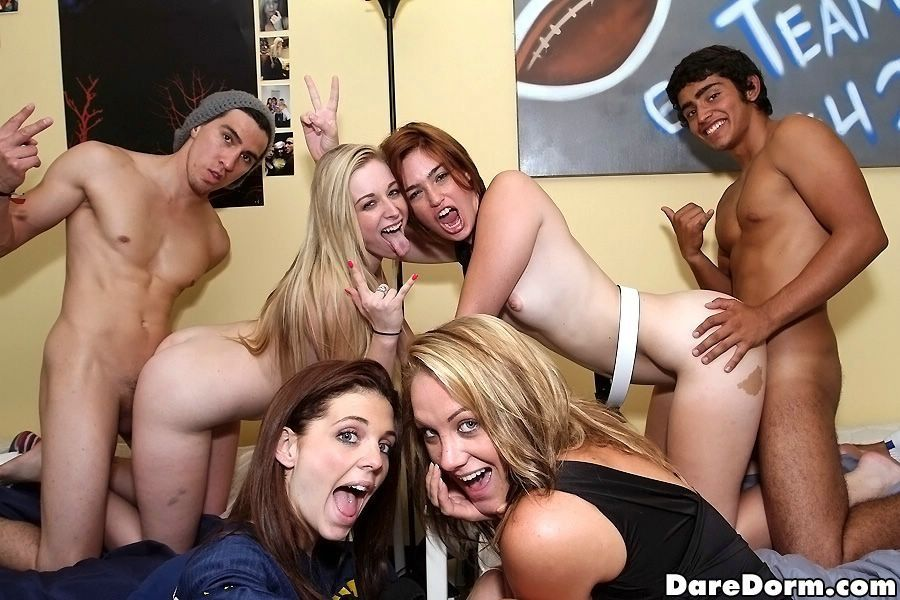 Mrs. R. reccomend College girl first gangbang College