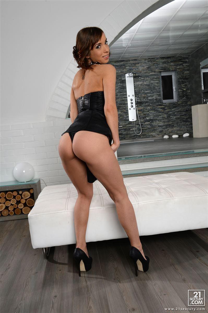 Black dress anal