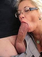 Beautiful mature woman glasses