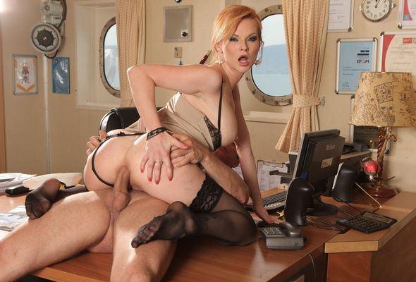 Big butt office slut
