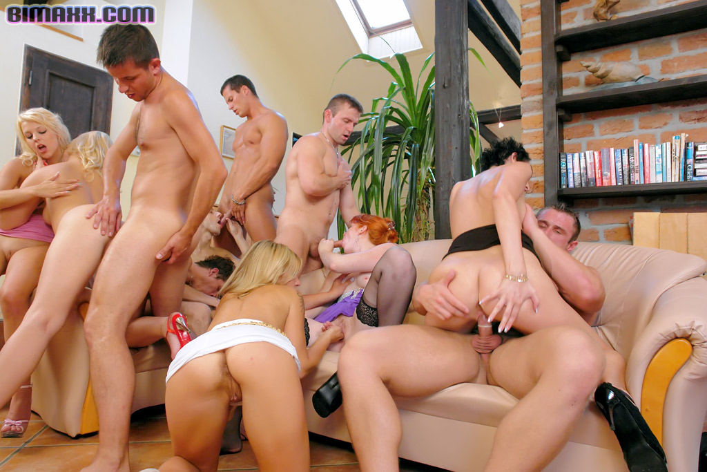 Bisexual club party orgy