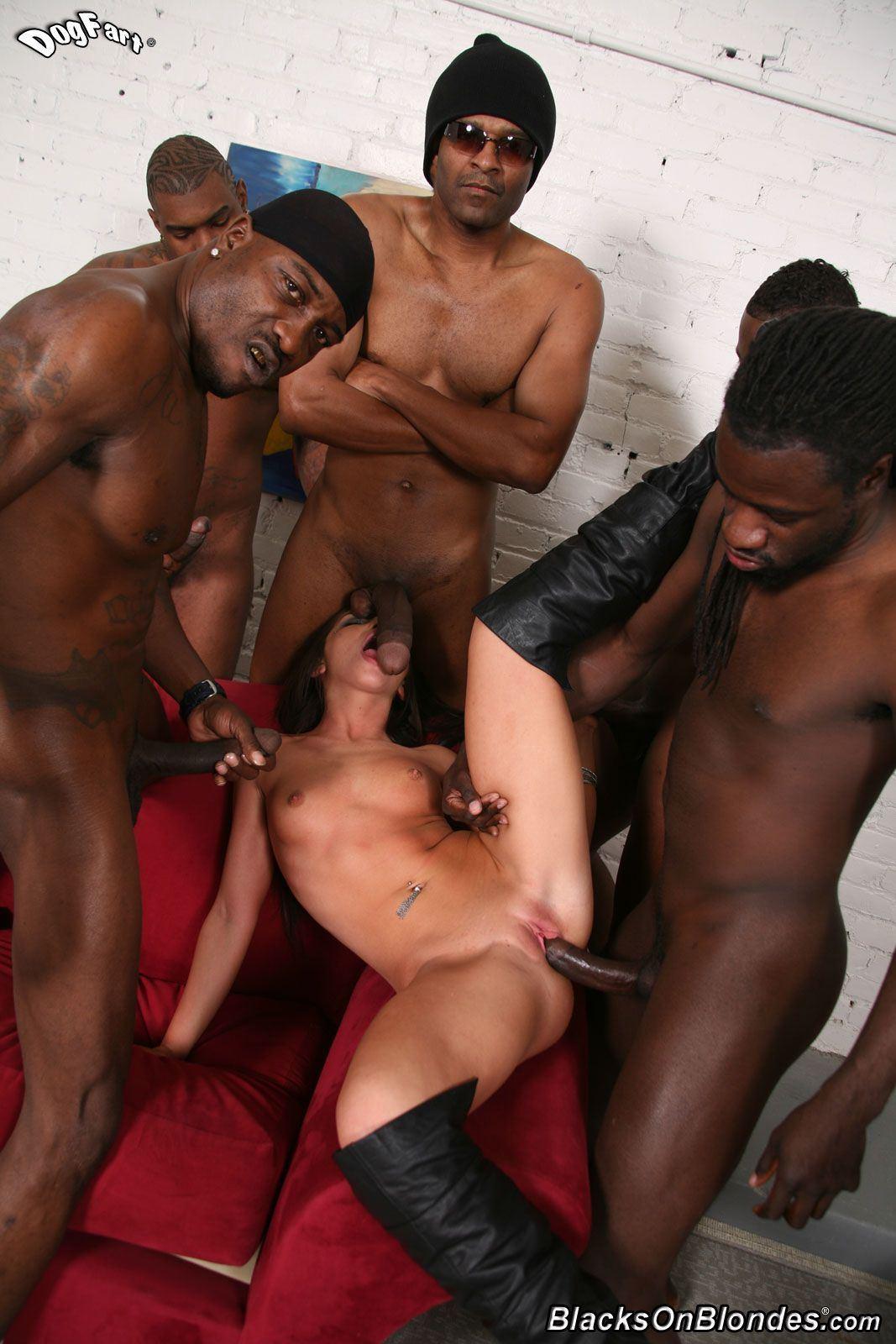 best of Slut white gangbang Black