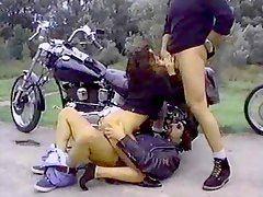 Blonde biker slut