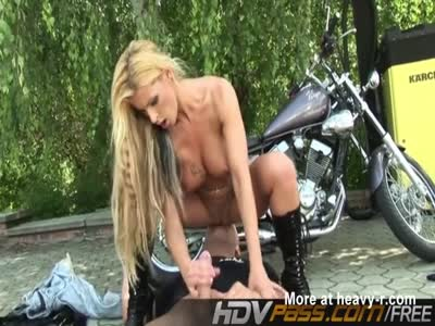 best of Slut Blonde biker