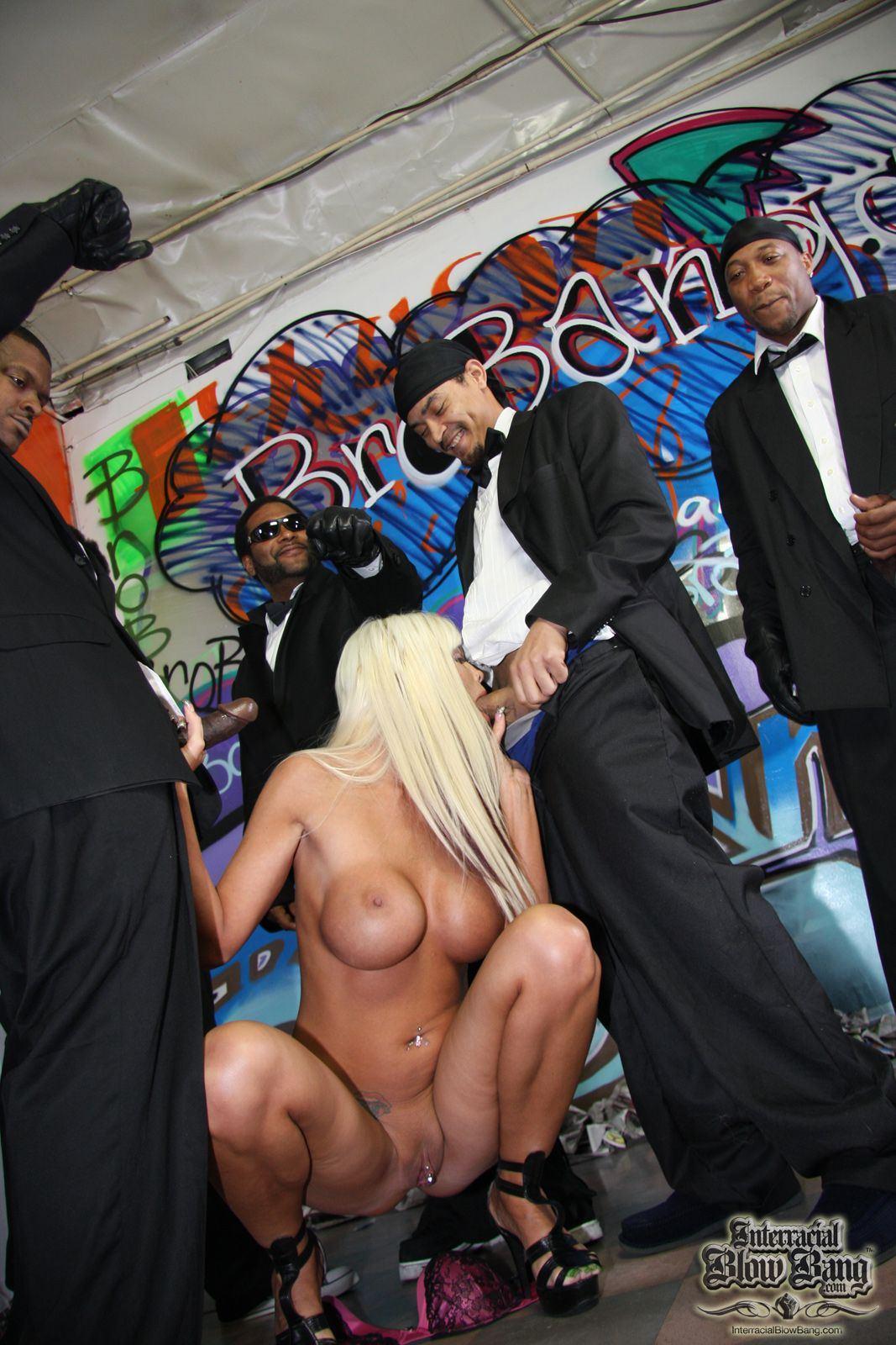 Blue gangbang blacks on blondes