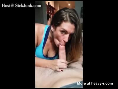 Breast twins blowjob penis and facial