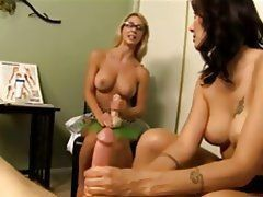 Busty handjob porn