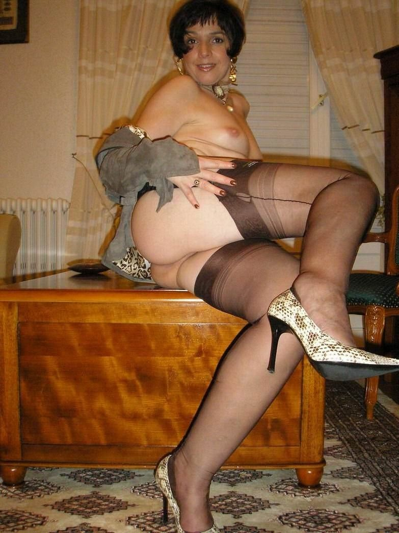 Combo recommendet stockings Milf in brown