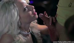 Howitzer recomended Girlfriend Blowjob Public Club In Blonde