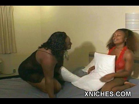 best of Lesbian missionary on Ebony strap