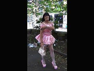 Public humiliating sissy slut
