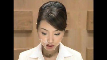 Asian reporter bukkake