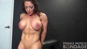 best of Huge with Erotic bondage tits muscle women