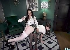 Spanking whore suck penis and pissing