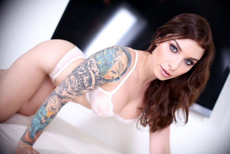 The B. recommend best of tattoo brunette pale