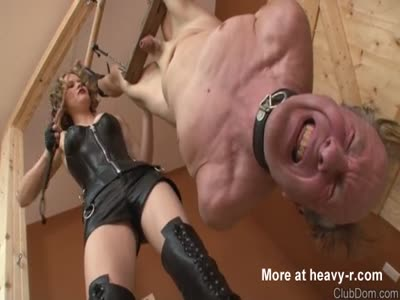 best of By Femdom balls hanging his