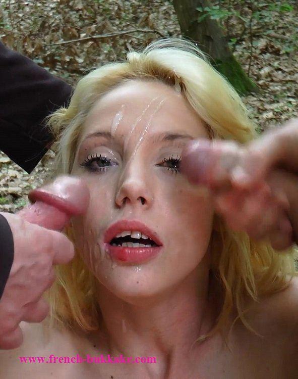 French bukkake blonde