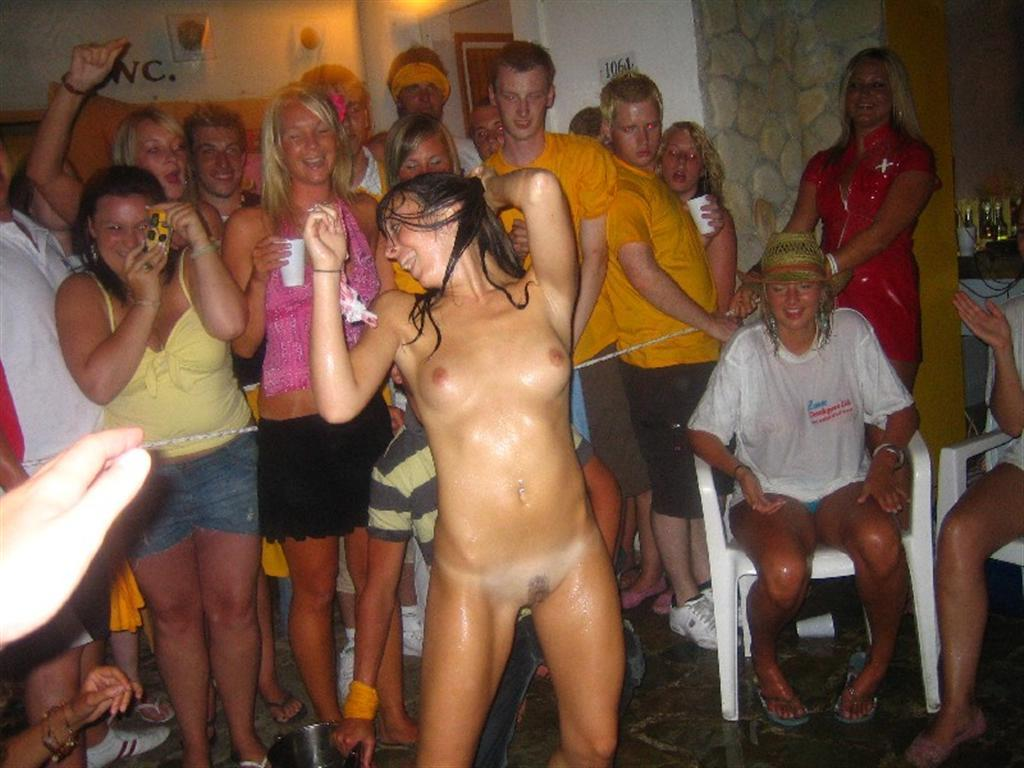 Girl strips party