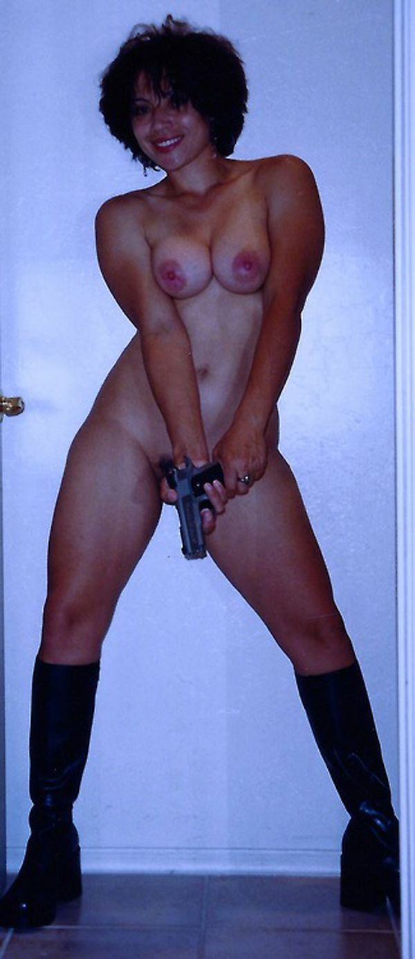 best of Guns with girls nude posing