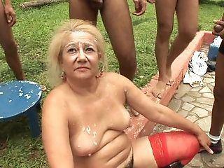 Firefly recomended Granny gangbang bukkake