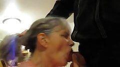 Hairy whore blowjob cock cumshot
