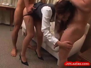 best of Office japanese pantyhose fuck