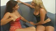 Lesbian forceful kissing