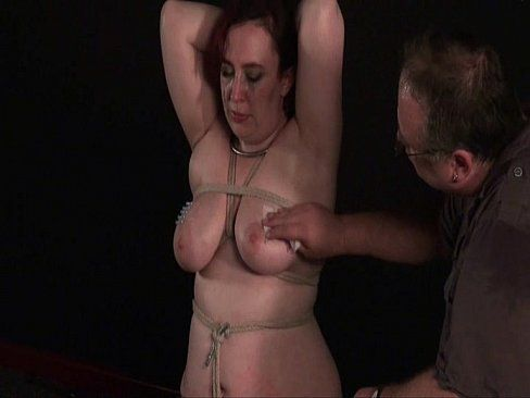Mature boobs needle