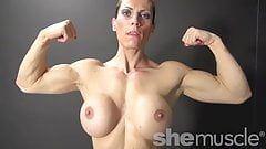Mature female natural biceps