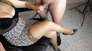 best of Lick pantyhose facial korean cock and