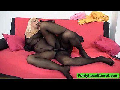Pantyhose slave masturbate cock and interracial