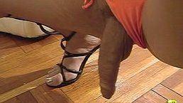 Shemale wearing thong