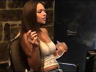 Smoking fetish milf