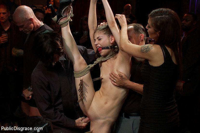 Two girls bdsm and public disgrace bondage