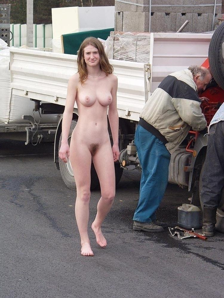 Walking around nude