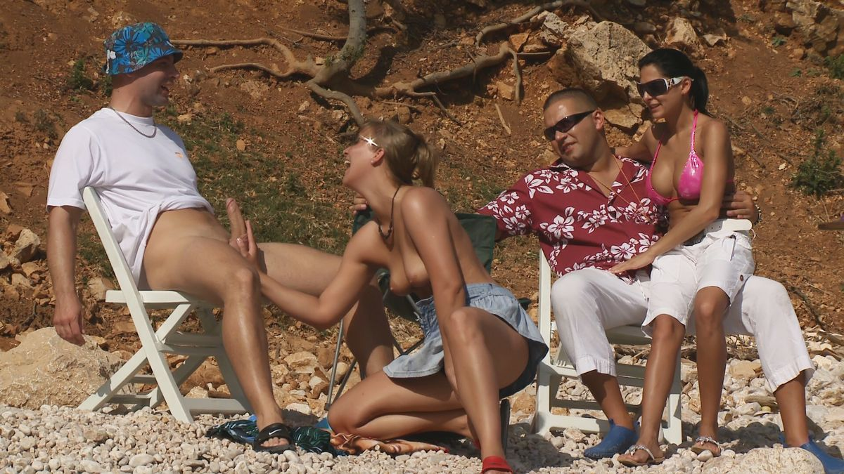 best of Beach handjob on wifes penis thai