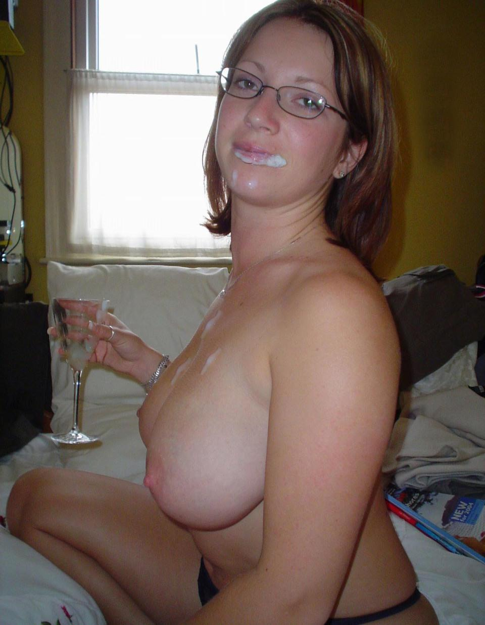 Wifey busty cum titty